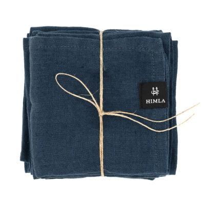 Himla servet donker blauw 4 pack 2800 s