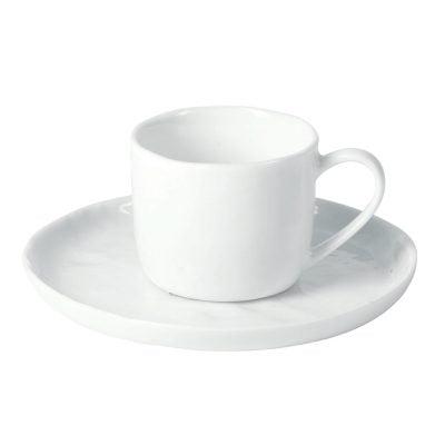 Espresso kop & schotel - Wit Porselein // Pomax