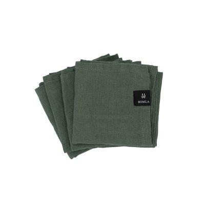 Himla servet donker groen 4 pack 1080 S