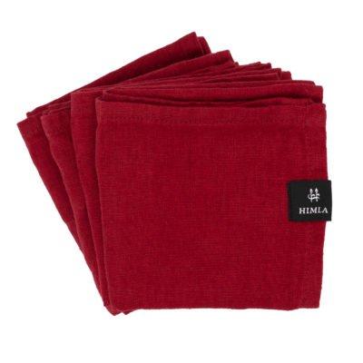 himla servet true red rood set van 4