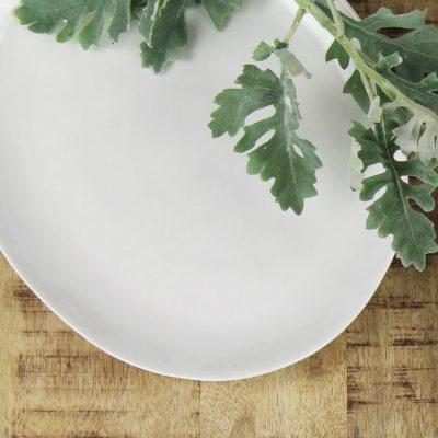 Dinerbord ovaal - Wit porselein // Pomax