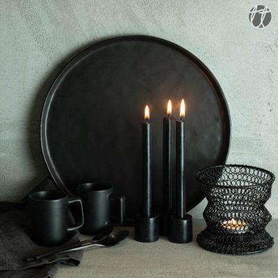 Black friyay zwart onderbord_zwarte kaarsen_waxinelichthouder_kopjes-5
