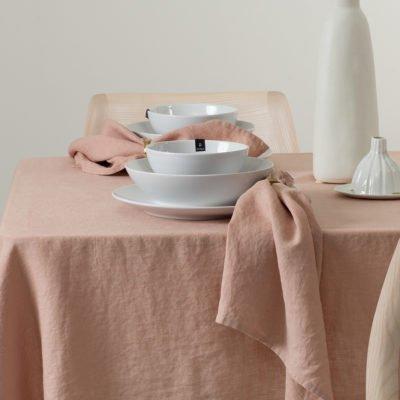 Himla servet nude licht roze set van 4