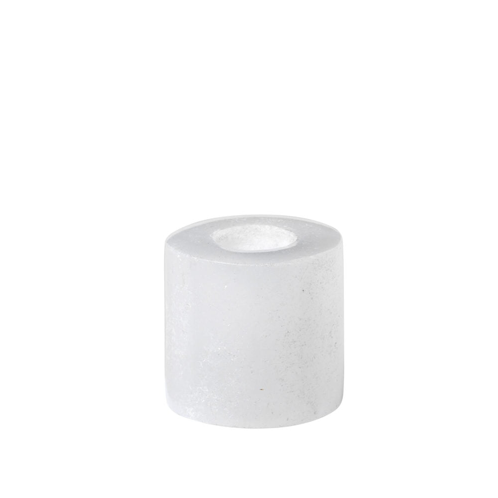 broste copenhagen potlood mini kandelaar wit steen