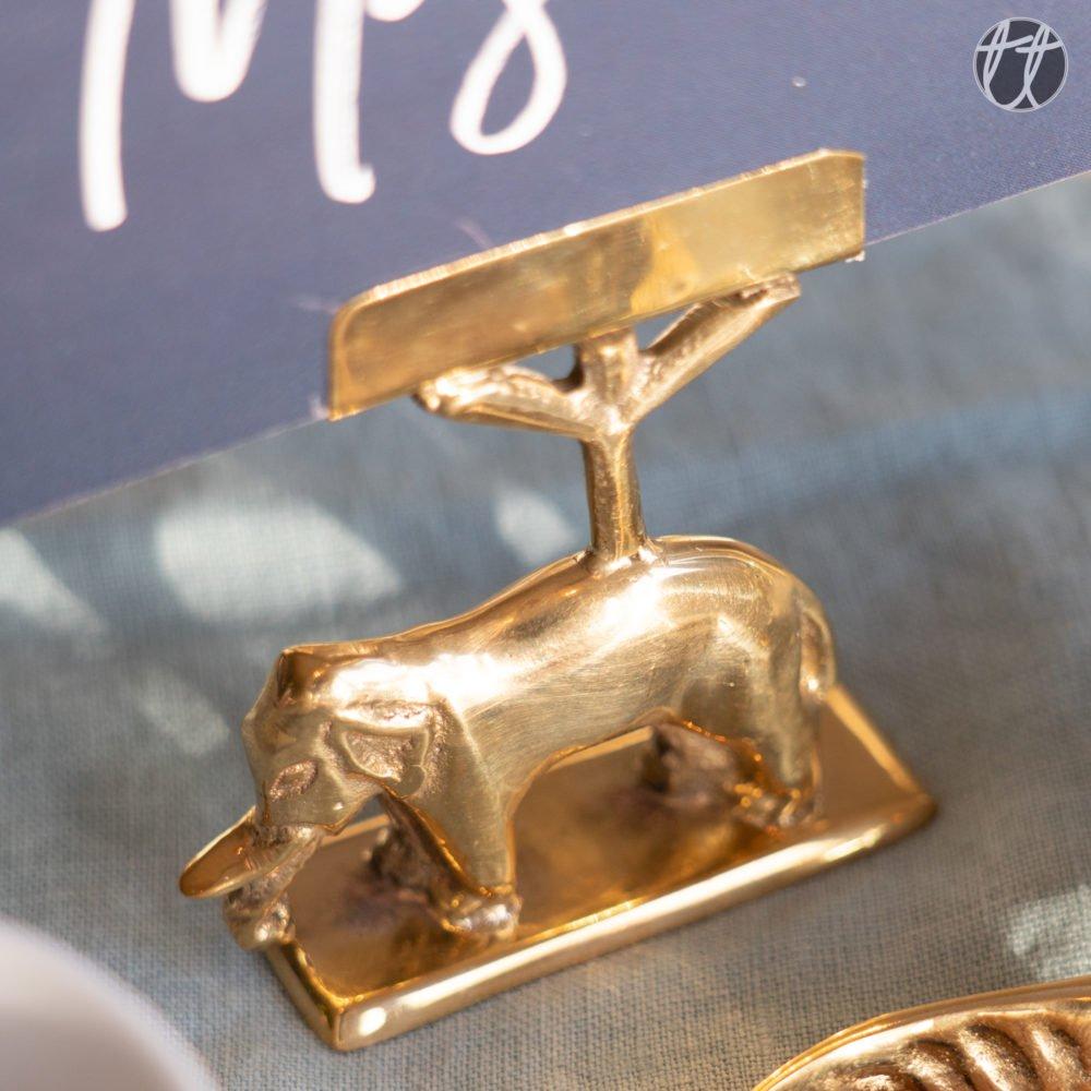 te koop kaarthouder a la olifant goud