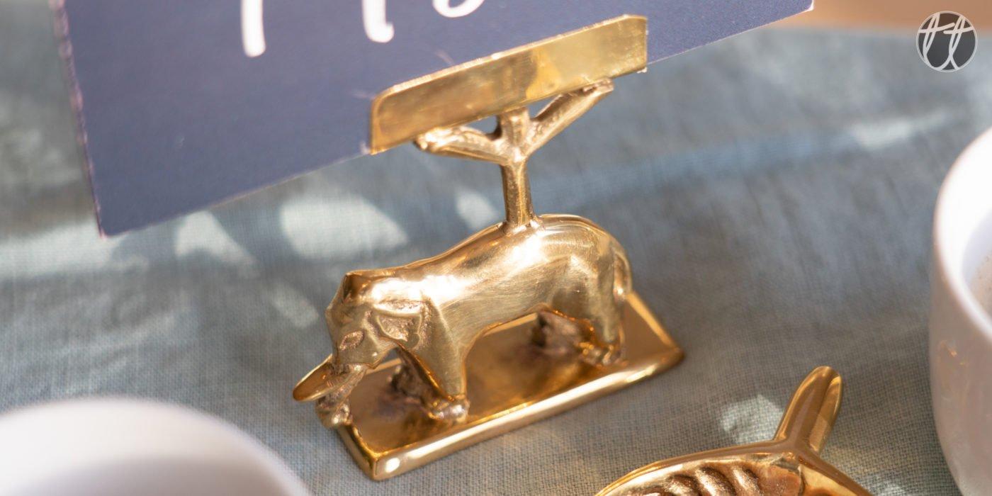 kaarthouder a la olifant goud