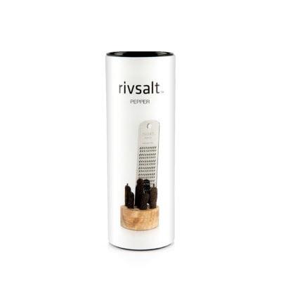 te koop Java peper + rasp + houten blok - the original // Rivsalt