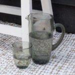 Water set - Karaf + 4 waterglazen - Bubble Grijs // Pomax