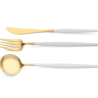 serveerset goa cutipol mat goud wit