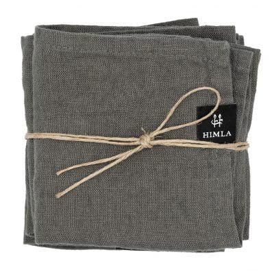 Linnen servetten - Charcoal // Himla (set van 4)