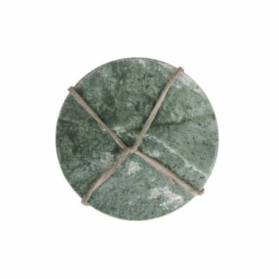 marmer onderzetter groen set van 4 rond