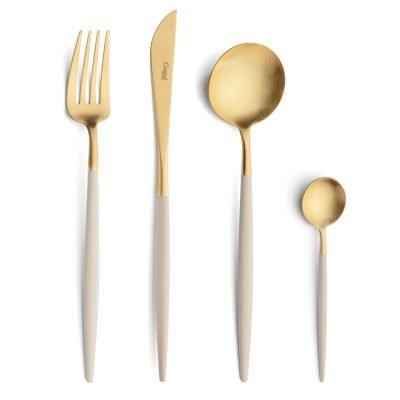 Cutipol-Goa-beige ivoor goud bestekset Ivory-Gold-24 delig-ZT