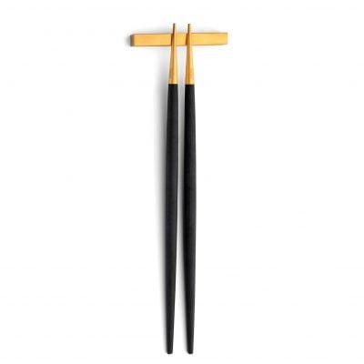 Cutipol-Goa-chopsticks eetstokjes zwart goud
