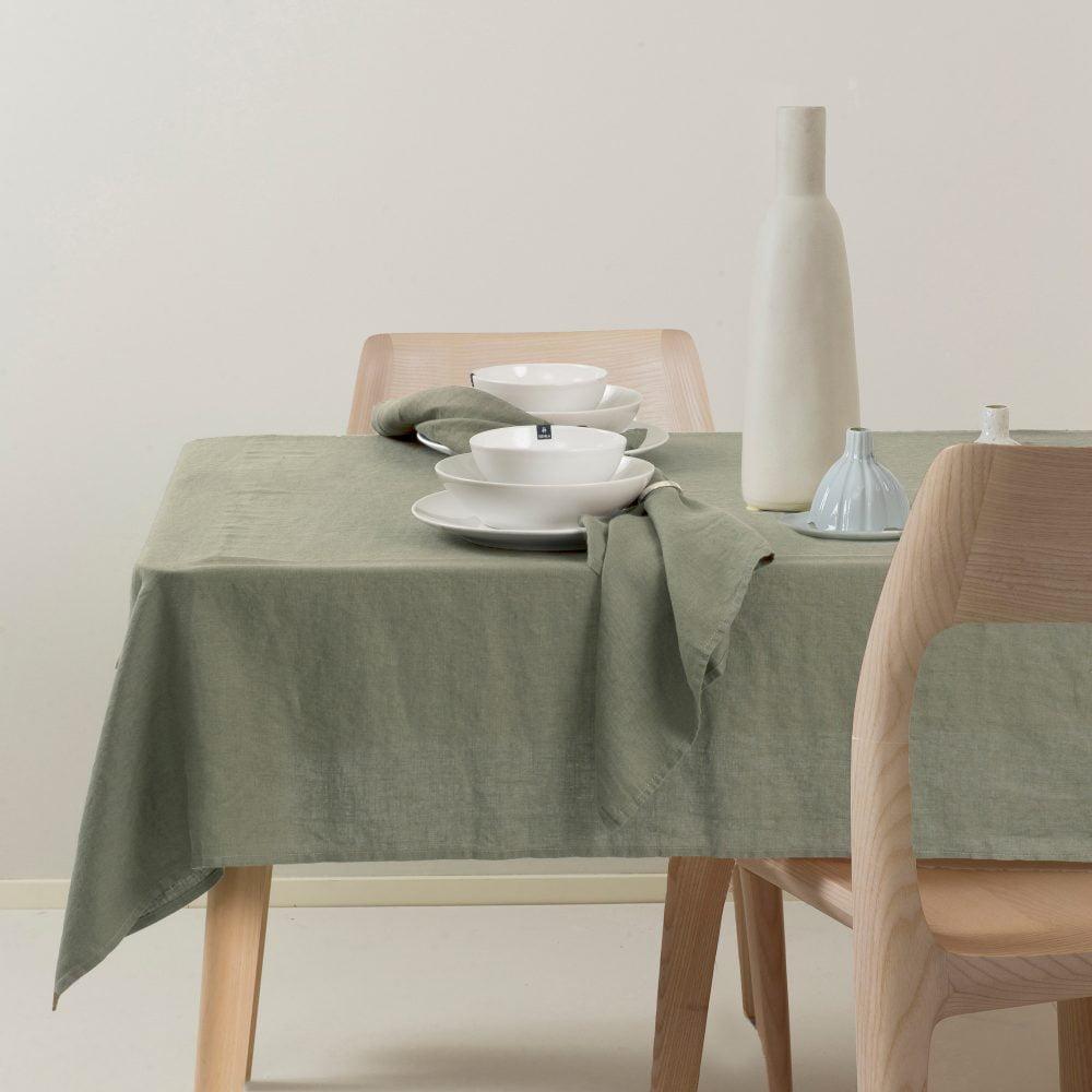 Linnen tafelkleed - Sage-Groen // Himla