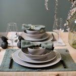 Placemat Weekday - Antique-Donker groen // Himla