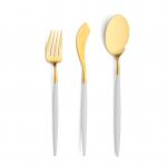 Goa - Wit/Goud - Vis vork // Cutipol