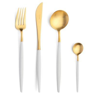 Cutipol-Goa-wit goud bestekset White-Gold-24delig-ZT