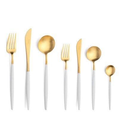 Cutipol-Goa-White-Gold wit goud bestekset-42 delig-ZT