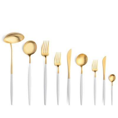 Cutipol-Goa-wit goud bestekset White-Gold-75 delig-ZT
