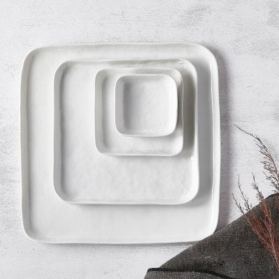 Kommetje vierkant - Wit porselein // Pomax