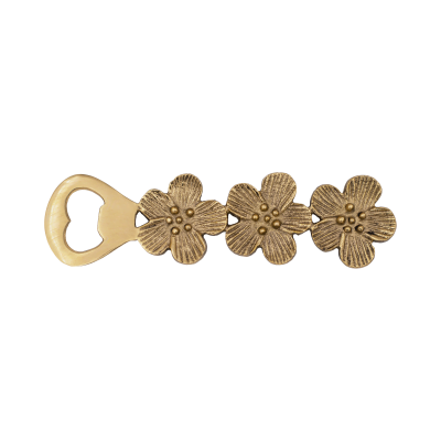 Flessenstopper flower - Goud // À la