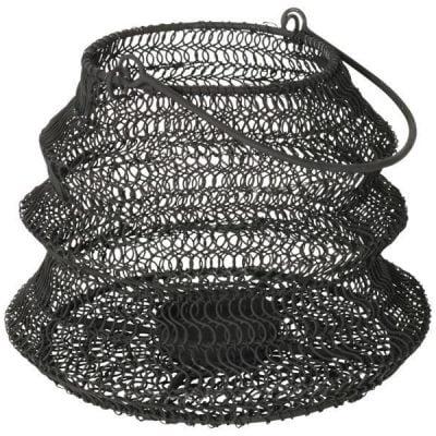 Waxinelichthouder wired groot - Mat Zwart